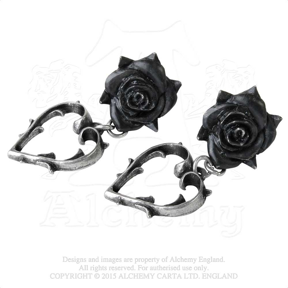 Alchemy Gothic Wounded Love Pair of Earrings from Gothic Spirit