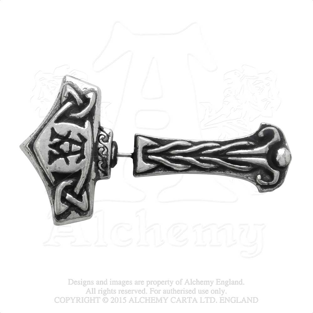 Alchemy Gothic Thunderstick Faux Ear Stretcher Earring - Gothic Spirit