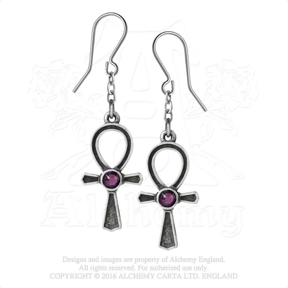 Alchemy Gothic Ankh Of Osiris Pair of Earrings from Gothic Spirit
