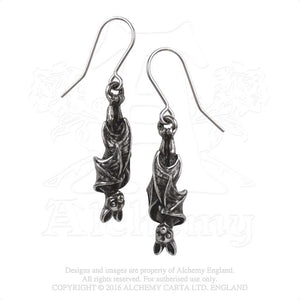 Alchemy Gothic Awaiting The Eventide Pair of Earrings - Gothic Spirit
