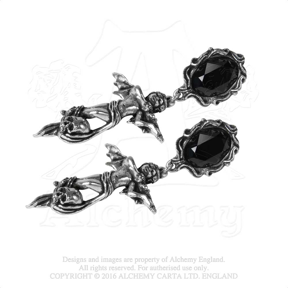 Alchemy Gothic Mesukmus Pair of Earrings - Gothic Spirit