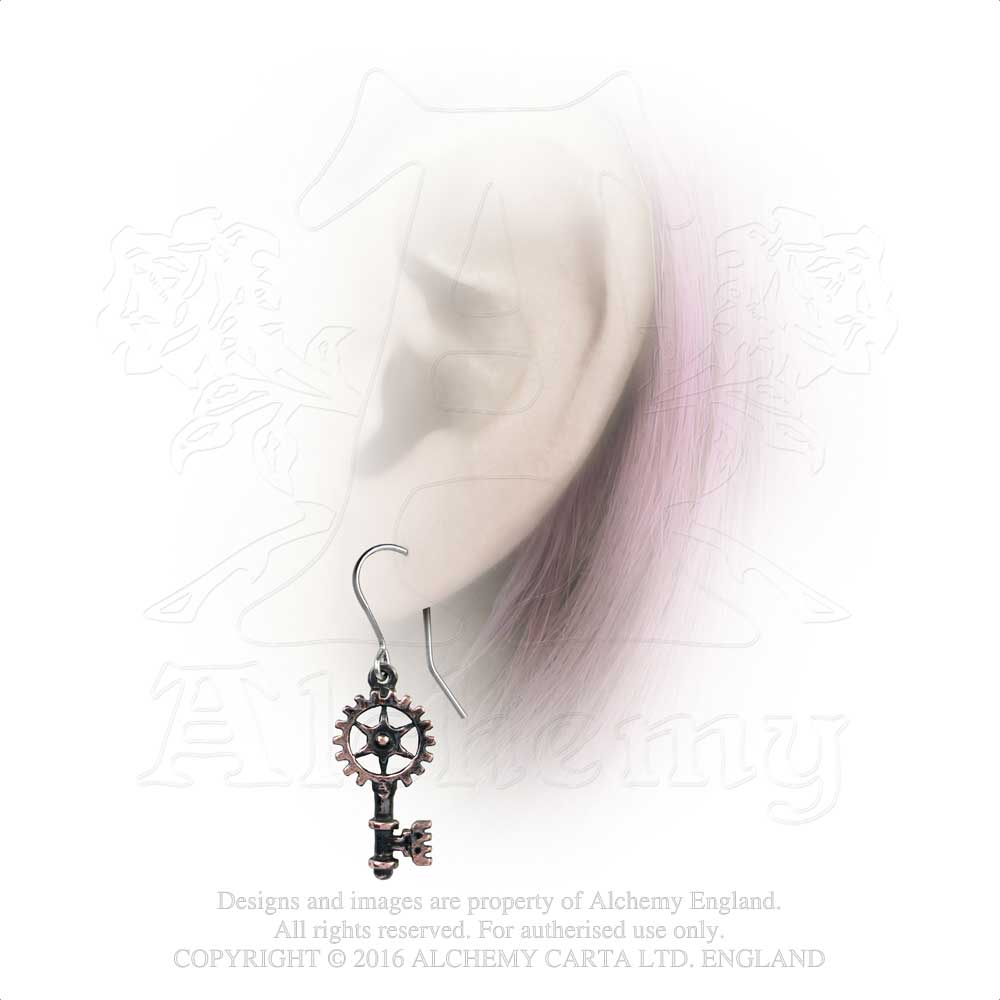 Alchemy Empire: Steampunk Clavitraction Pair of Earrings from Gothic Spirit