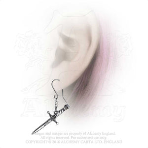 Alchemy Gothic Hand Of Macbeth Pair of Earrings - Gothic Spirit