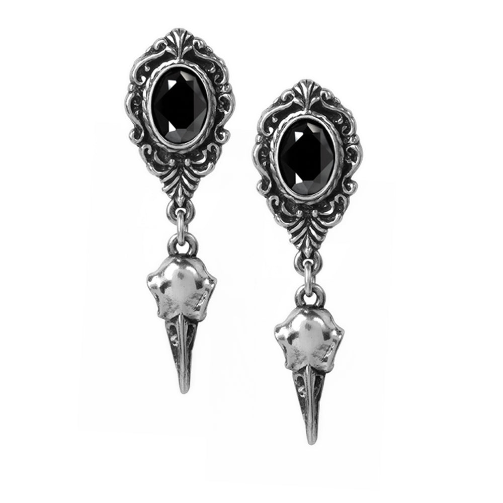 Alchemy Gothic My Soul From The Shadow- Pair of Pewter Earrings - Gothic Spirit