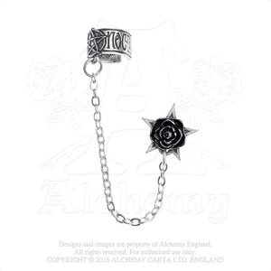 Alchemy Gothic Rosa Nocta Single Earring from Gothic Spirit