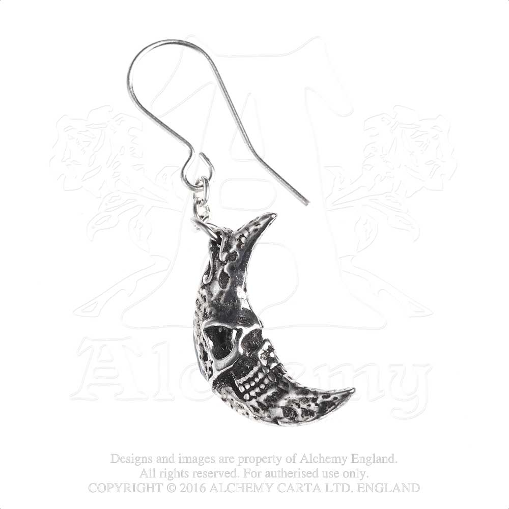 Alchemy Gothic M'era Luna Crescens - Tragicom Pair of Earrings from Gothic Spirit