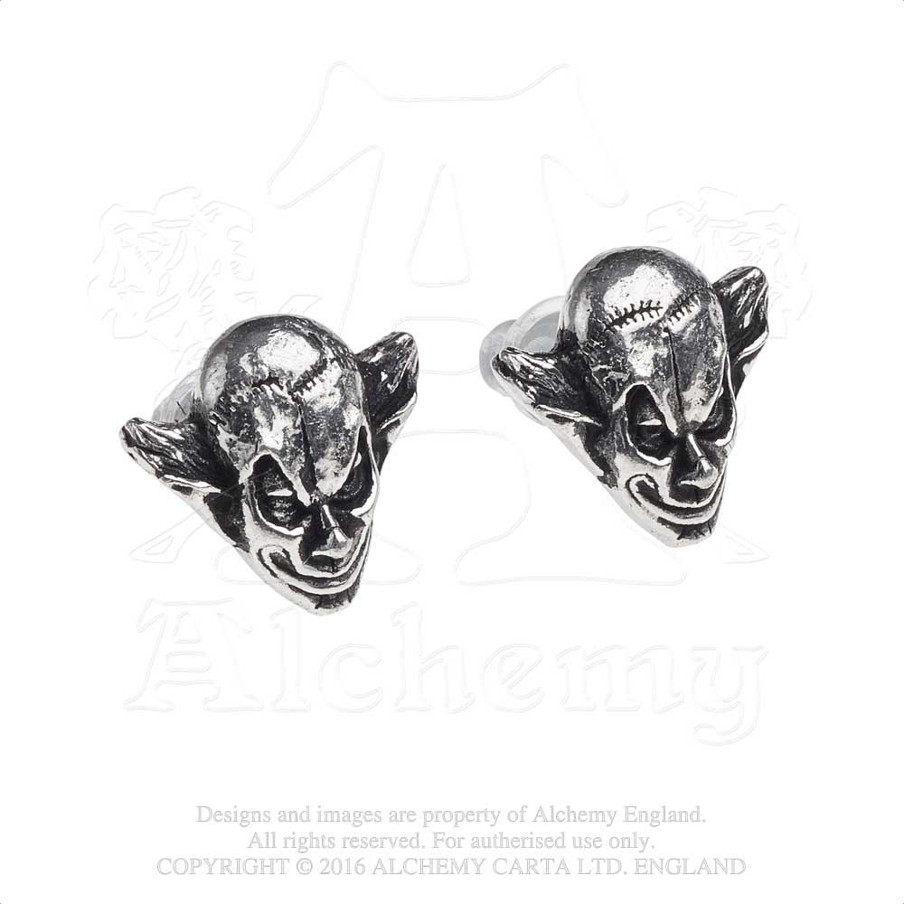 Alchemy Gothic M'era Luna Evil Clown Pair of Earrings - Gothic Spirit