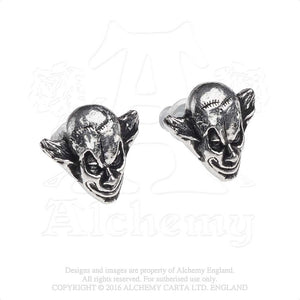 Alchemy Gothic M'era Luna Evil Clown Pair of Earrings from Gothic Spirit