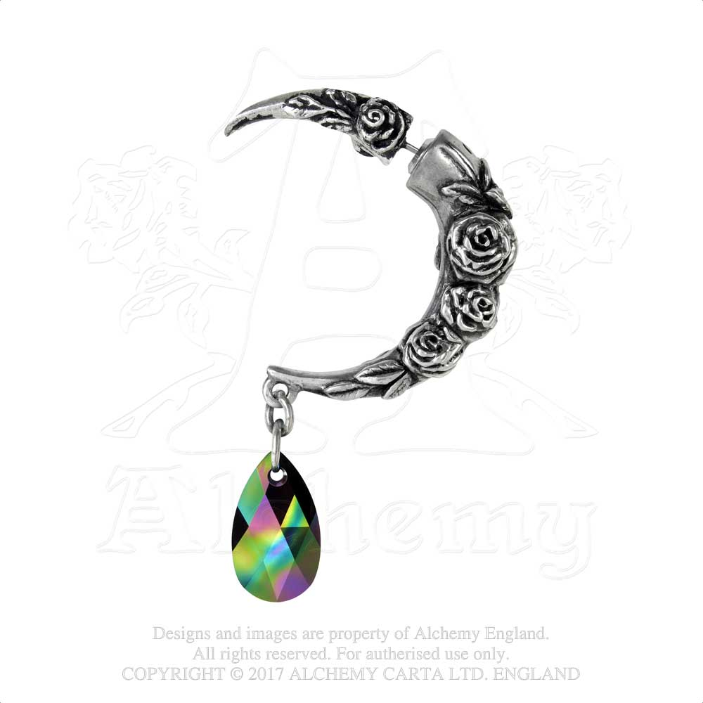 Alchemy Gothic Rosemoon Faux Ear Stretcher Earring from Gothic Spirit