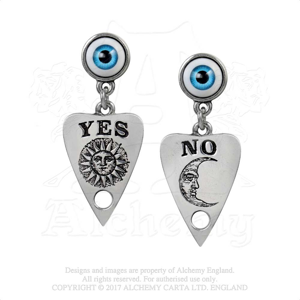 Alchemy Gothic Ouija Planchette Pair of Earrings - Gothic Spirit