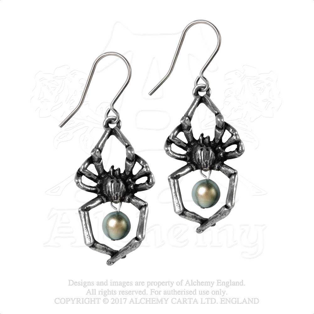 Alchemy Gothic Glistercreep Pair of Earrings from Gothic Spirit