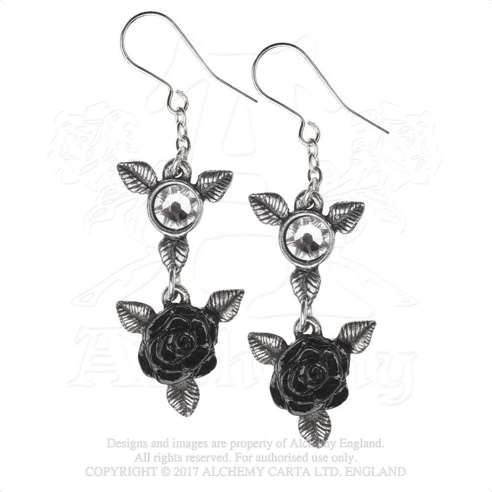 Alchemy Gothic Ring 'O Roses Pair of Earrings - Gothic Spirit