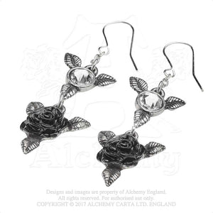 Alchemy Gothic Ring 'O Roses Pair of Earrings from Gothic Spirit