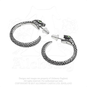Alchemy Gothic The Sophia Serpent Pair of Earrings - Gothic Spirit