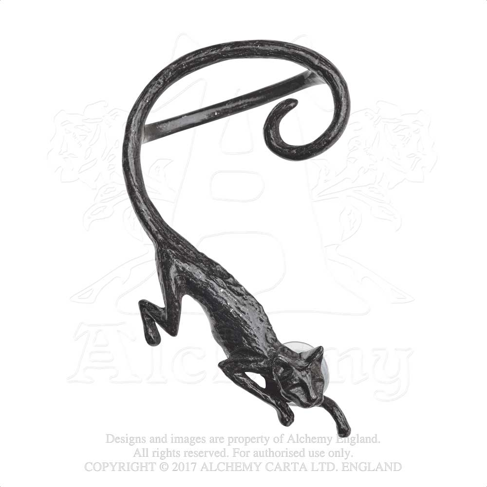 Alchemy Gothic Cat Sith Single Earring from Gothic Spirit