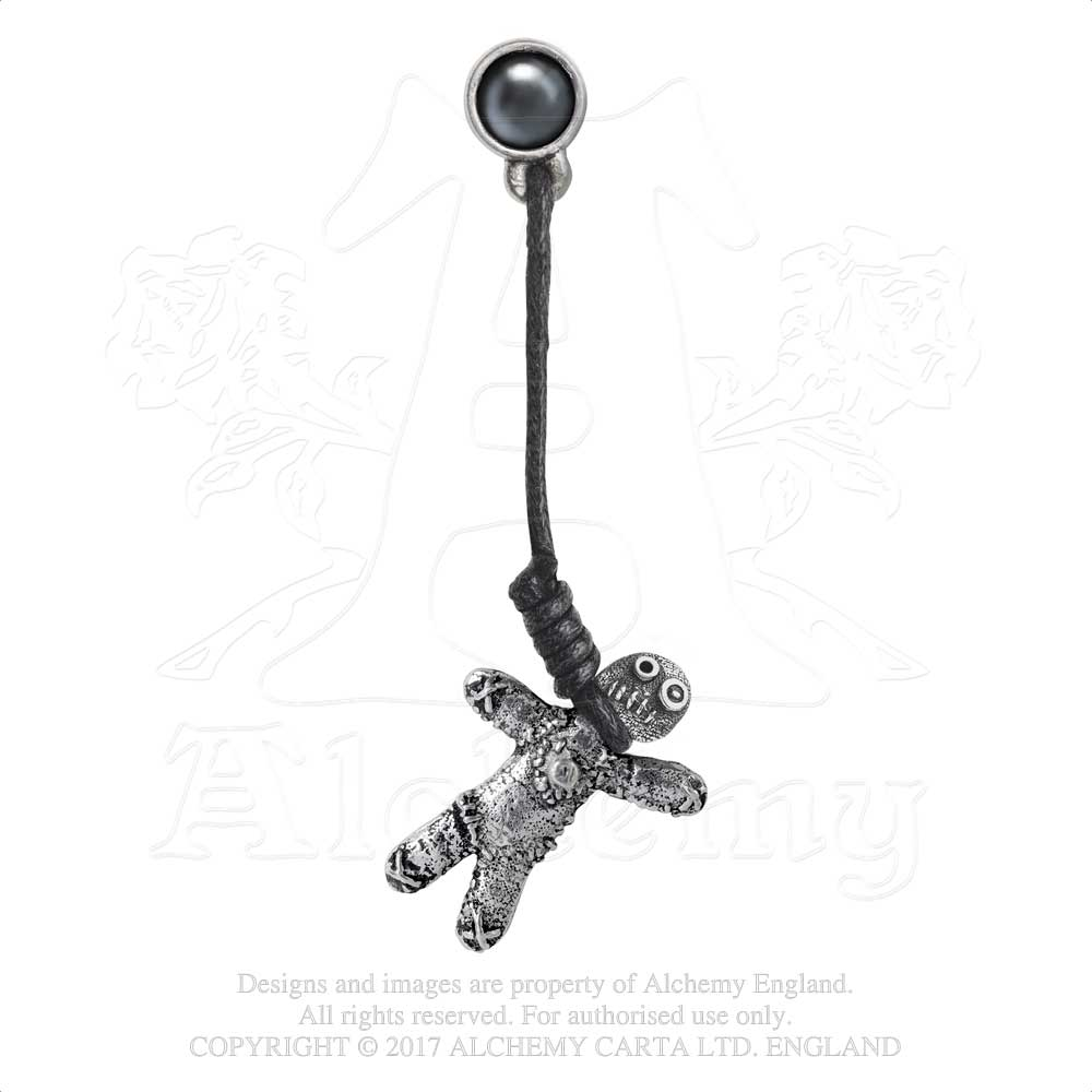Alchemy Gothic Voodoo Doll Single Earring from Gothic Spirit