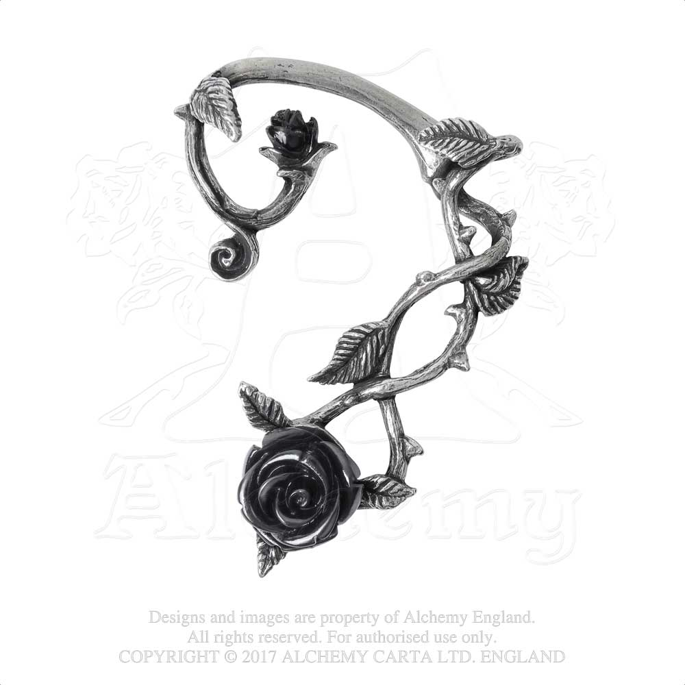 Alchemy Gothic Wild Black Rose Ear Wrap from Gothic Spirit