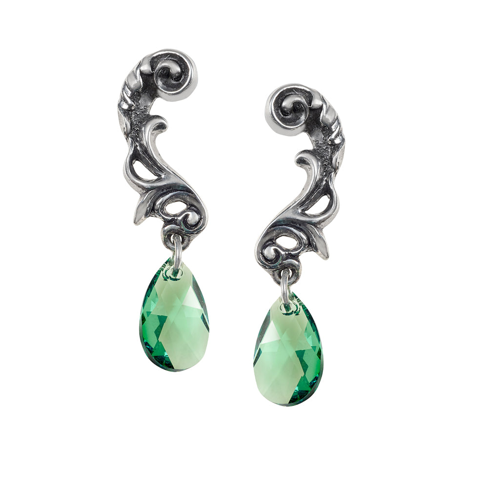 Alchemy Gothic Night Queen Pair of Earrings - Gothic Spirit