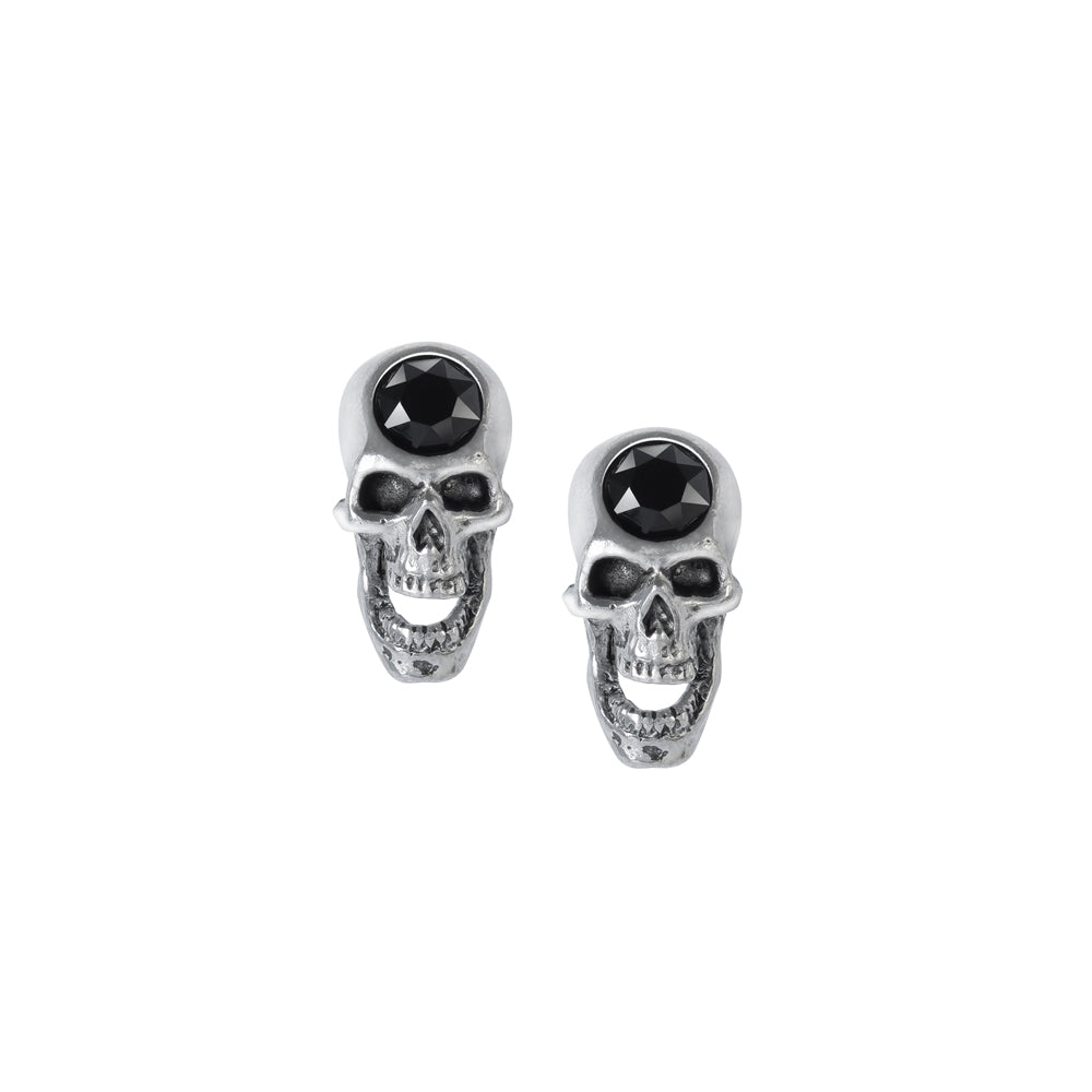 Alchemy Gothic Screaming Skull Pair of Earrings