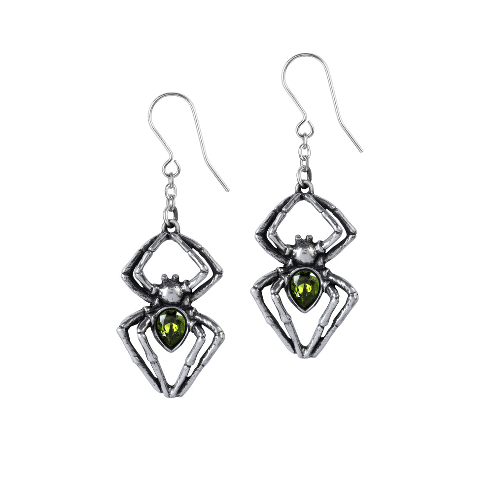 Alchemy Gothic Emerald Venom Pair of Earrings from Gothic Spirit