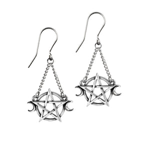 Alchemy Gothic Goddess Pair of Earrings from Gothic Spirit