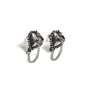 Alchemy Gothic Witches Heart Pair of Earrings