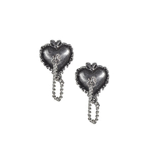 Alchemy Gothic Witches Heart Pair of Earrings from Gothic Spirit