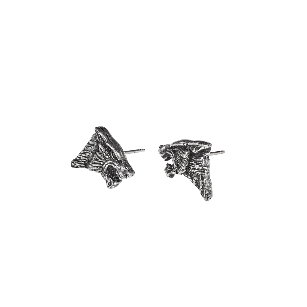 Alchemy Gothic Dark Wolf Pair of Earrings from Gothic Spirit