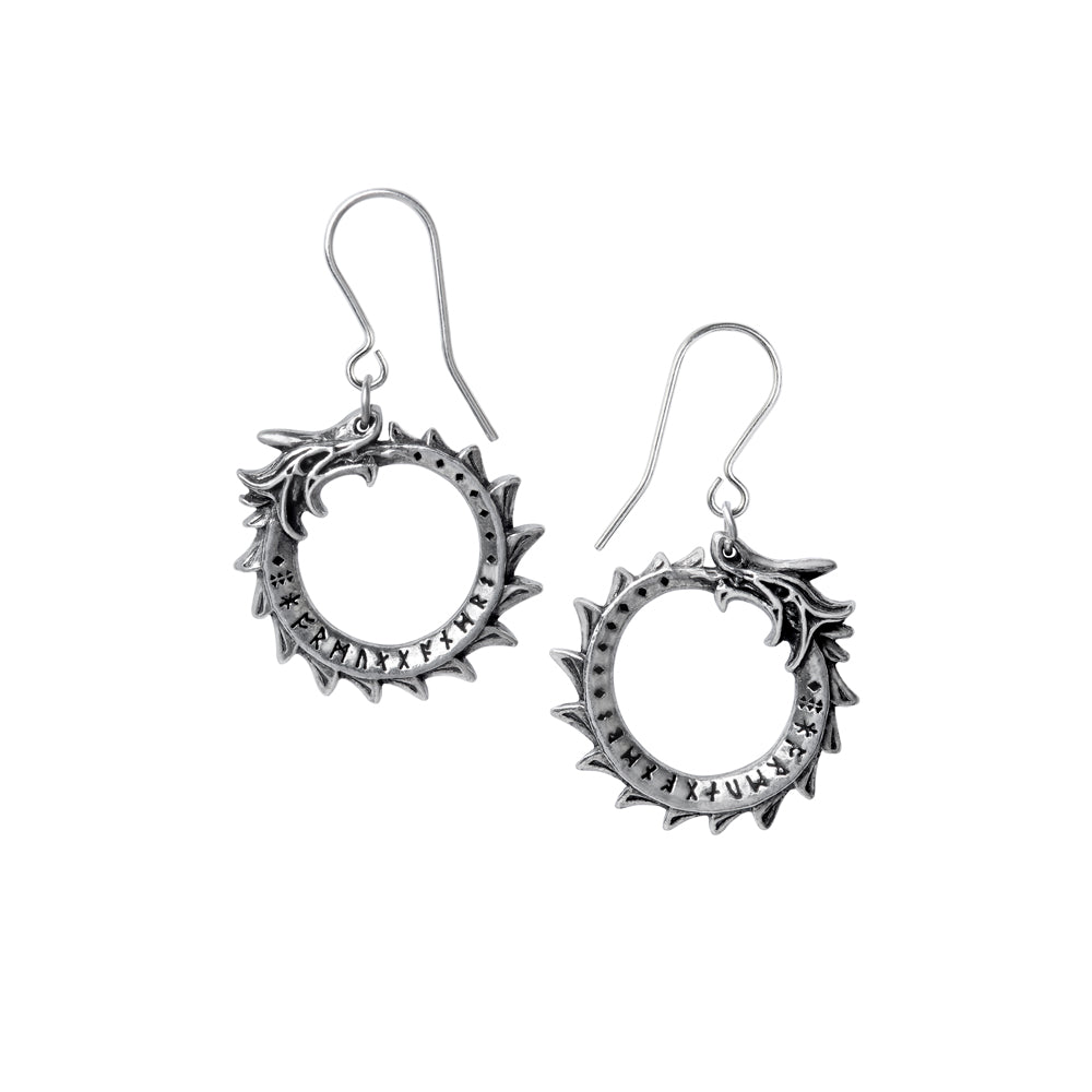 Alchemy Gothic Jormungand Pair of Earrings from Gothic Spirit