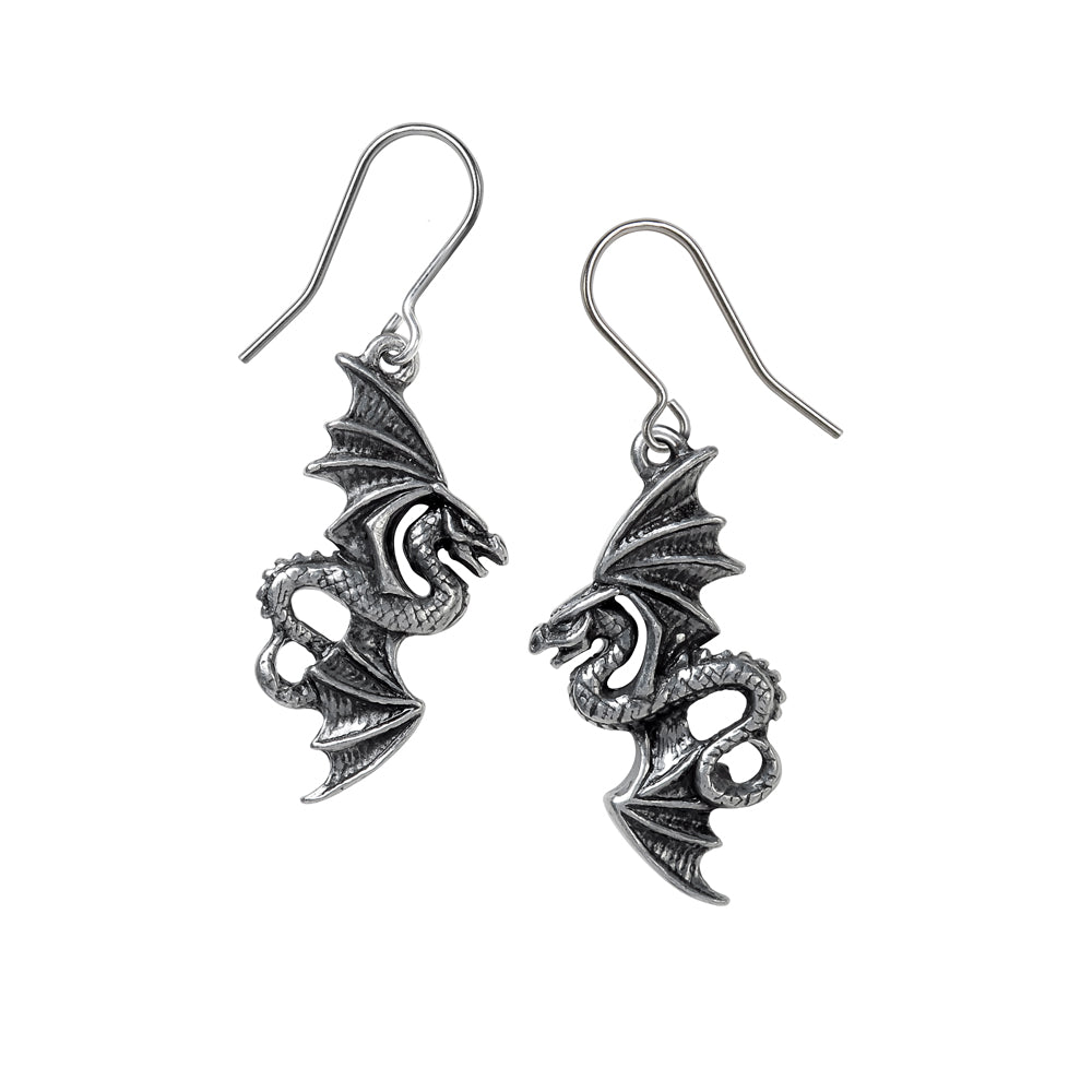 Alchemy Gothic Flight of Airus Droppers Pair of Earrings from Gothic Spirit