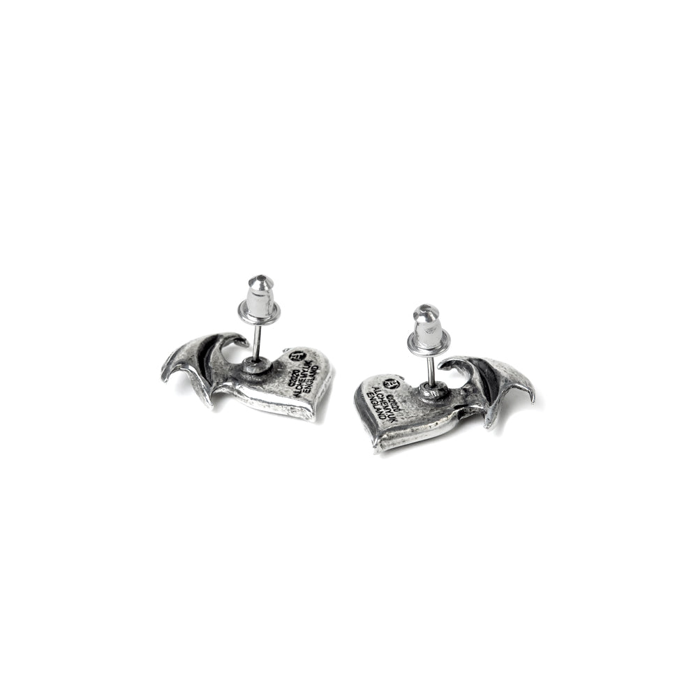 Alchemy Gothic Blacksoul Studs Pair of Earrings from Gothic Spirit