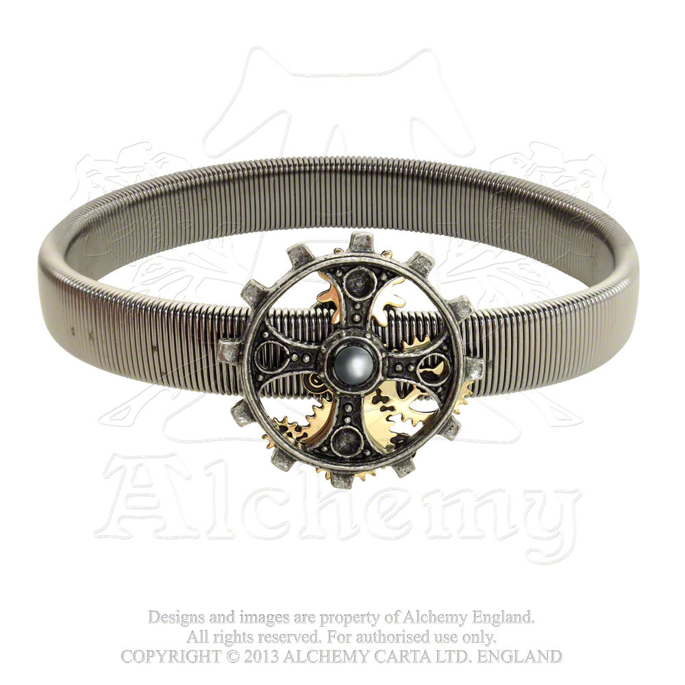 Alchemy Empire: Steampunk Foundryman's Ring Cross Sleeve Band from Gothic Spirit