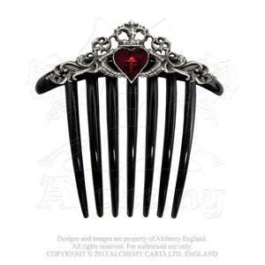 Alchemy Gothic Claddagh Hair Comb from Gothic Spirit