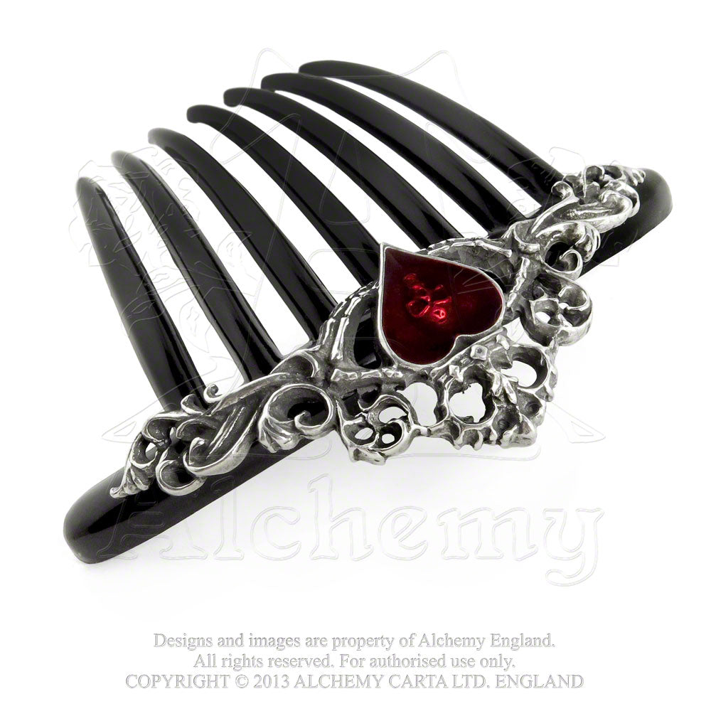 Alchemy Gothic Claddagh Hair Comb - Gothic Spirit
