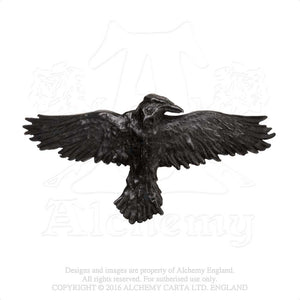 Alchemy Gothic Black Raven Hair Slide - Gothic Spirit
