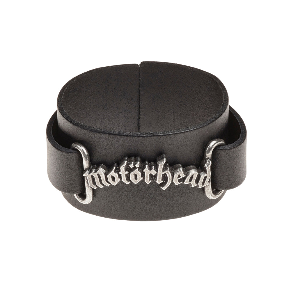 Alchemy Rocks Motorhead: logo Leather Wriststrap from Gothic Spirit