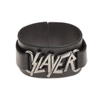 Alchemy Rocks Slayer: logo Leather Wriststrap - Gothic Spirit