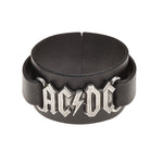 Alchemy Rocks AC/DC: logo Leather Wriststrap - Gothic Spirit