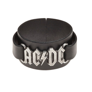 Alchemy Rocks AC/DC: logo Leather Wriststrap from Gothic Spirit