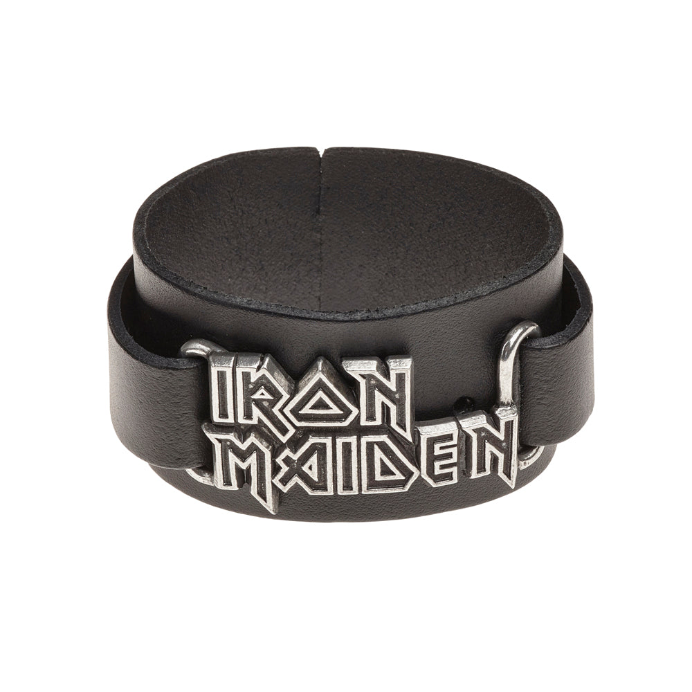 Alchemy Rocks Iron Maiden: logo Leather Wriststrap - Gothic Spirit
