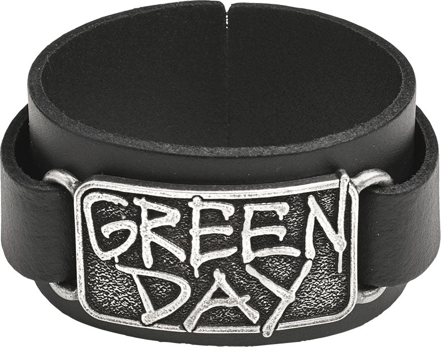 Alchemy Rocks Green Day Logo Leather Wriststrap - Gothic Spirit