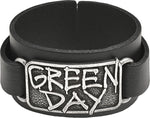 Alchemy Rocks Green Day Logo Leather Wriststrap from Gothic Spirit