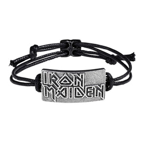Alchemy Rocks Iron Maiden: Logo Bracelet from Gothic Spirit