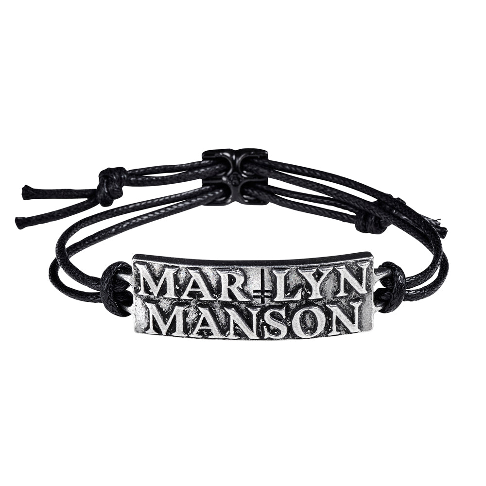 Alchemy Rocks Marylin Manson: Logo Bracelet from Gothic Spirit