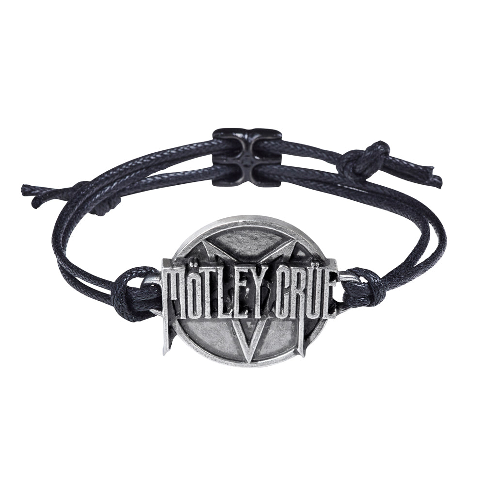 Alchemy Rocks Motley Crue: Pentagram Disc Bracelet from Gothic Spirit