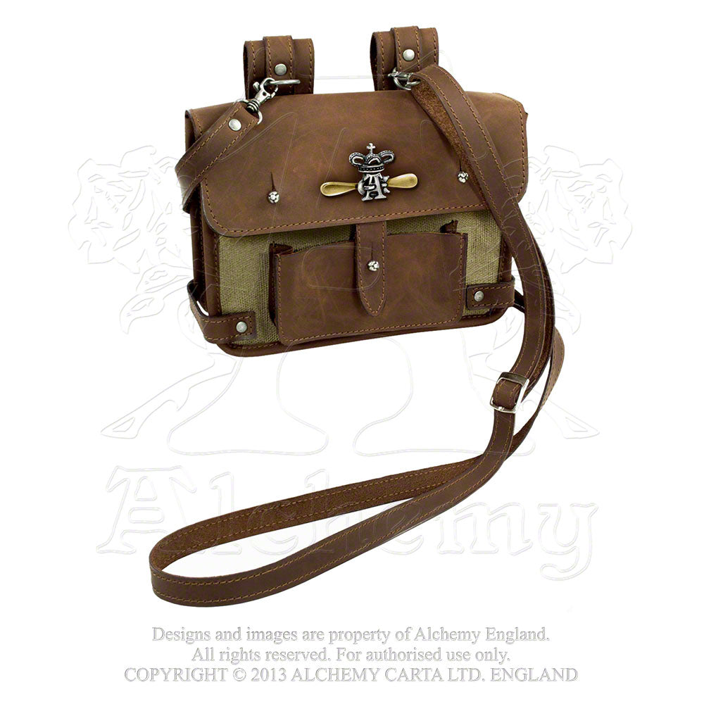 Alchemy Empire: Steampunk Wing-Commander's Leather Handbag from Gothic Spirit