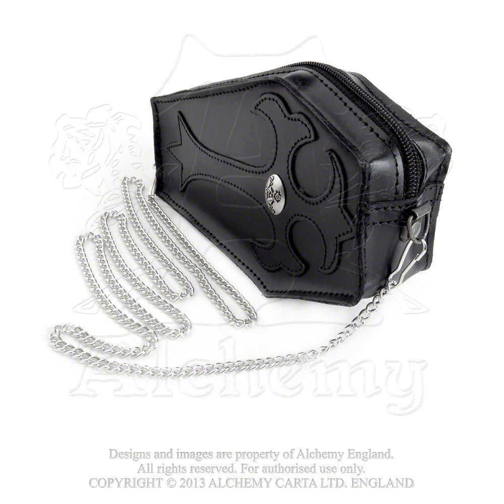 Alchemy Gothic Coffin Leather Purse - Gothic Spirit