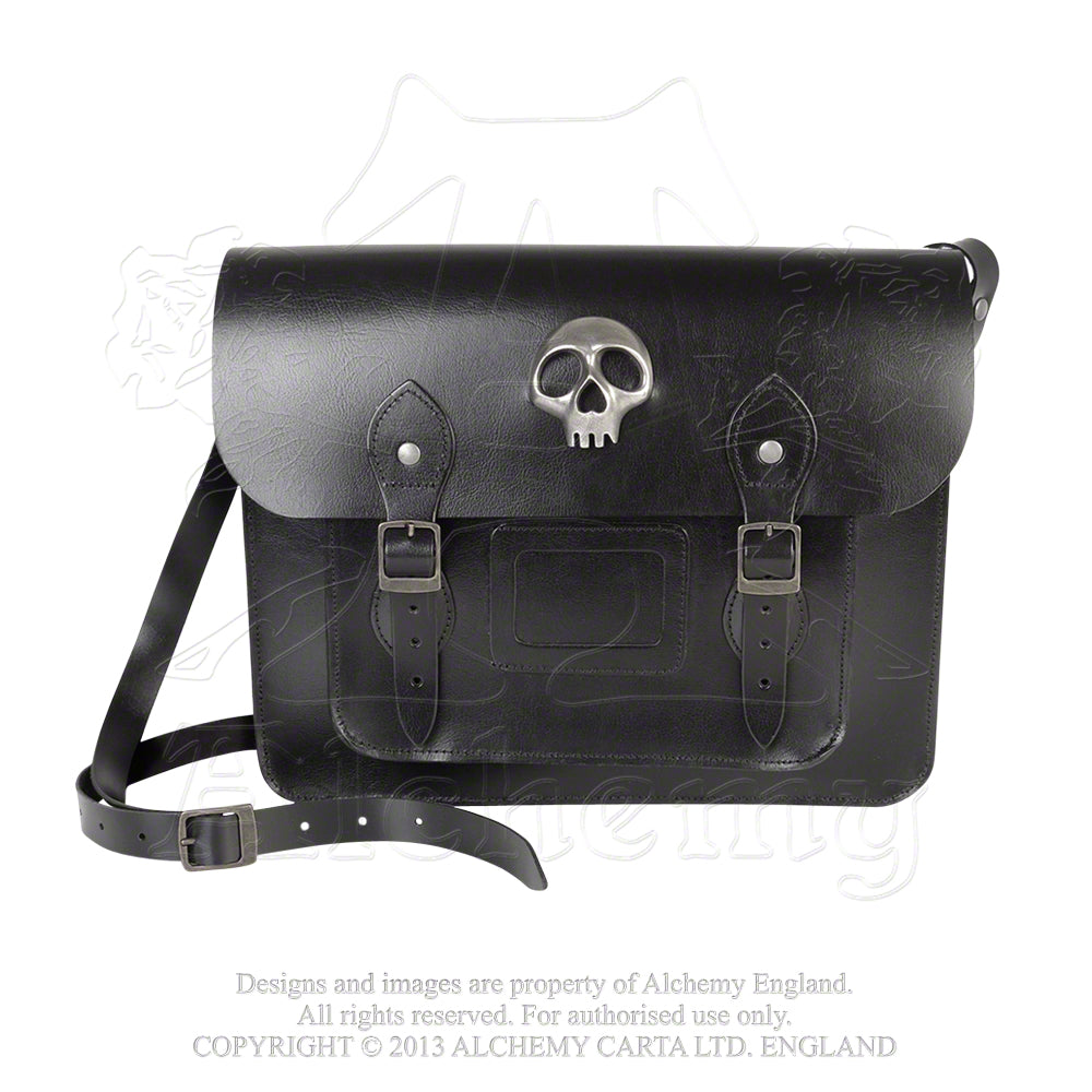 Alchemy Gothic Alice Satchel - Skulls Out Leather Bag from Gothic Spirit