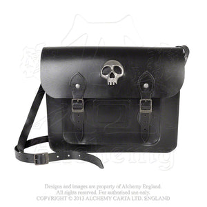 Alchemy Gothic Alice Satchel - Skulls Out Leather Bag - Gothic Spirit