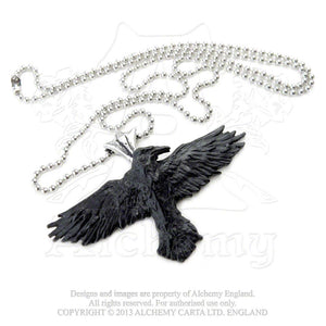 Alchemy Gothic Black Raven Pendant from Gothic Spirit